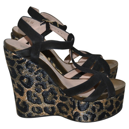 Pura Lopez Sandaletten mit Keilabsatz