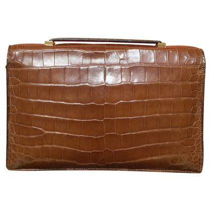 "Hermès peau de crocodile ""Piano Bag"""