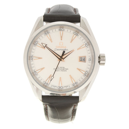 Omega '' Seamaster '' - men's watch with leather