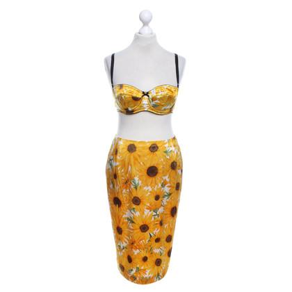 Dolce & Gabbana Twin set con motivo floreale