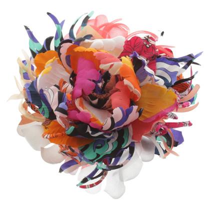 Emilio Pucci Spilla con decorazioni floreali