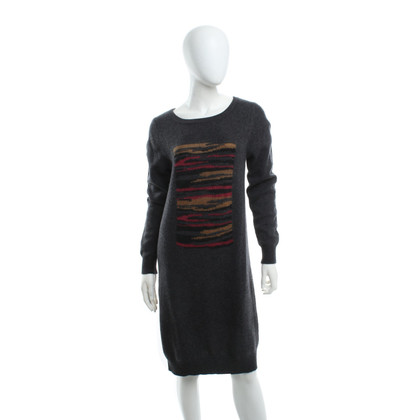 Boss Orange Wool dress in dark gray