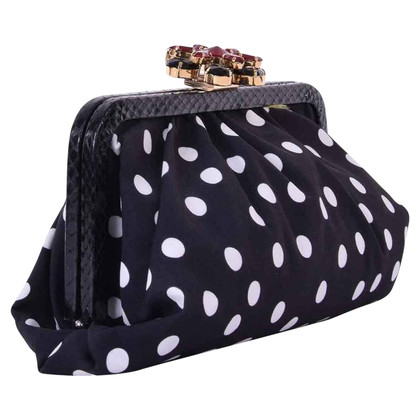 "Dolce & Gabbana clutch ""Carmen"" with polka dots"