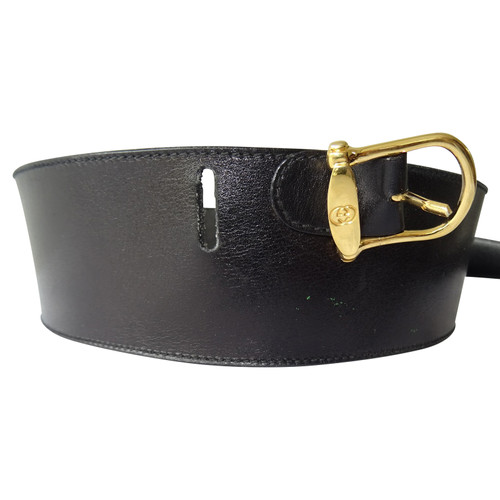 e8bc2936d Gucci Belt Leather in Black - Second Hand Gucci Belt Leather in ...