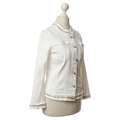 7 For All Mankind White Denim jacket