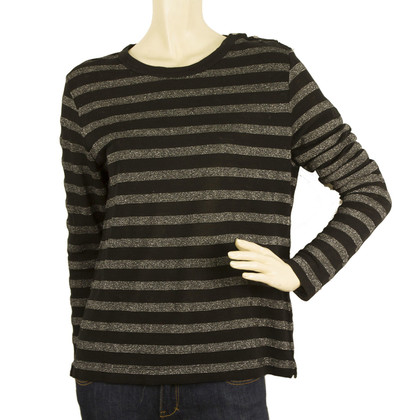 Zadig & Voltaire Willy Stripes Lurex Long Sleeve Top