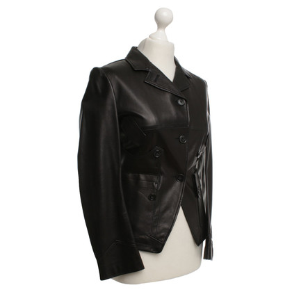 Jil Sander Leather jacket in black