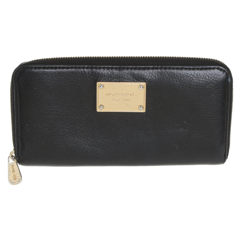 Michael Kors BagPurse Leather in Black Second Hand