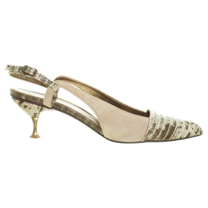 Lanvin Slingback Pumps in the reptile design