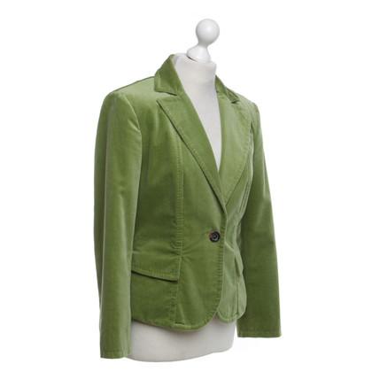 Marc Cain Velvet blazer in groen