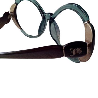 John Galliano occhiali da sole verdi e nere