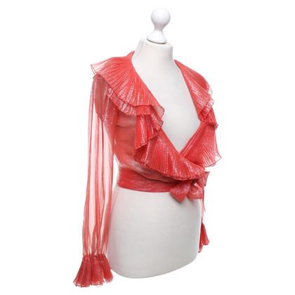 Yves Saint Laurent Salmon-colored blouse