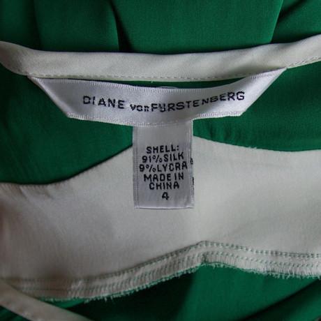 Seidenkleid Diane Diane von von Furstenberg Gr眉n qC847gwx