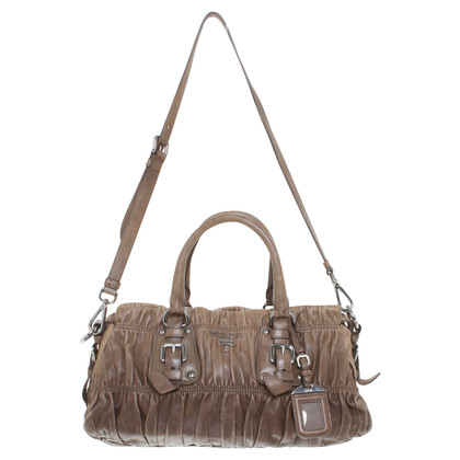 Prada Leather shoulder bag in taupe