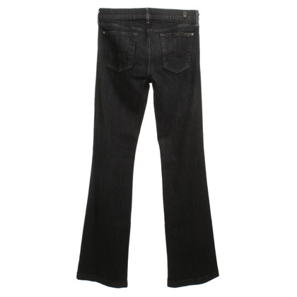 7 For All Mankind High-waist jeans in grey