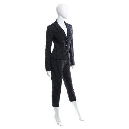 D&G Pinstripe suit in dark blue / black