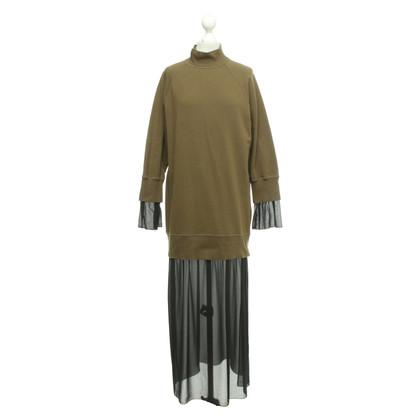MM6 by Maison Margiela Oversized Kleid in Khaki/Schwarz
