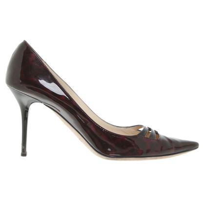 Jimmy Choo pumps a Bordeaux