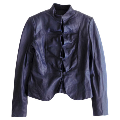 Armani Leather jacket in blue
