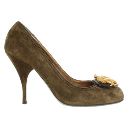 Miu Miu pumps in olive green