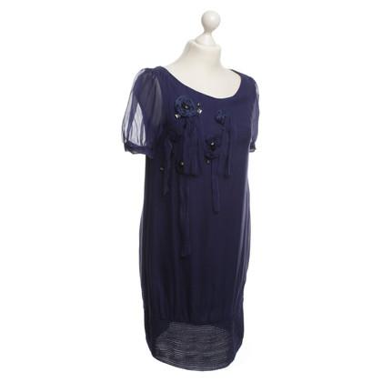 Patrizia Pepe zijden jurk paars