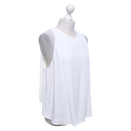 T by Alexander Wang Mouwloze blouse in crèmewit