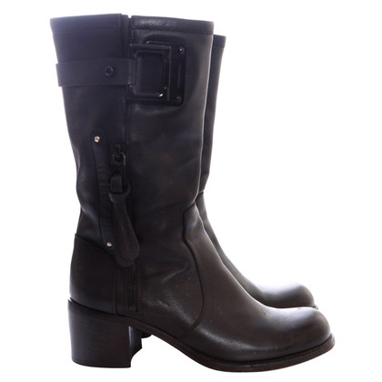 Barbara Bui Black leather boots