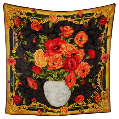 JOOP! Silk scarf with floral print