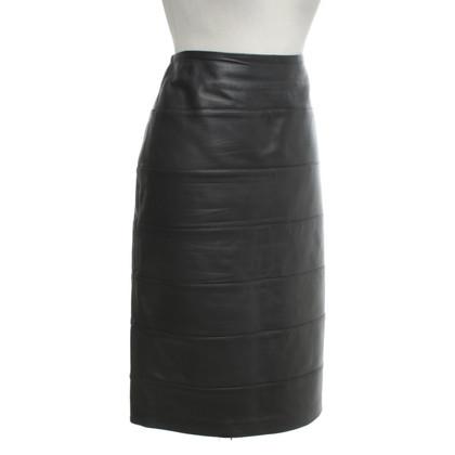 Sonia Rykiel Leather skirt in dark blue