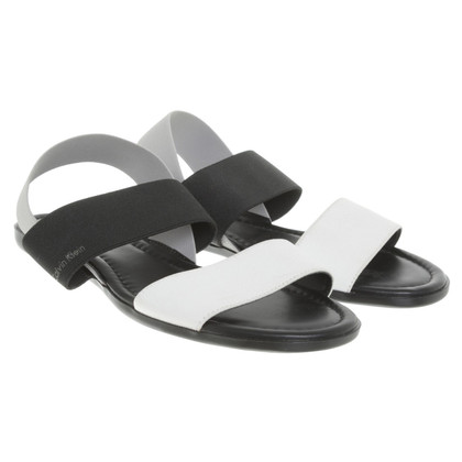 Calvin Klein Sandals in black and white