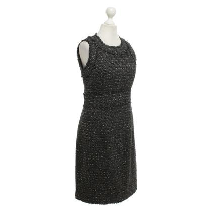 Michael Kors Bouclé dress in black and white