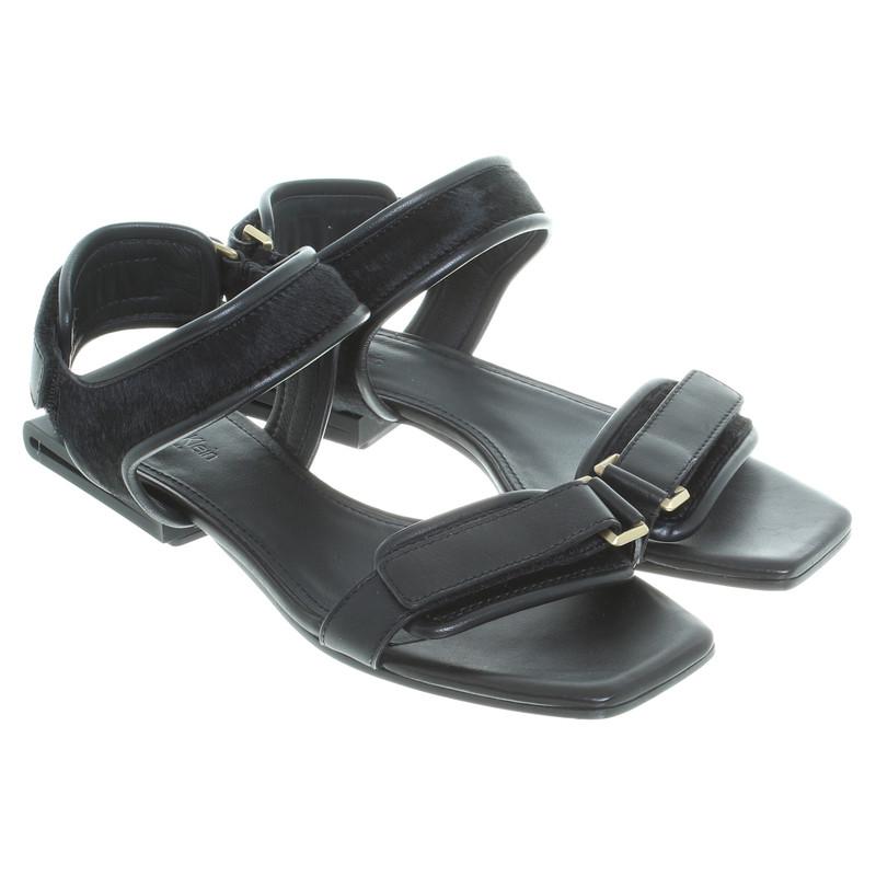 calvin klein sandalen in schwarz second hand calvin klein sandalen in schwarz gebraucht kaufen. Black Bedroom Furniture Sets. Home Design Ideas