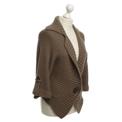 Marc Cain Knitted Cardigan in Brown