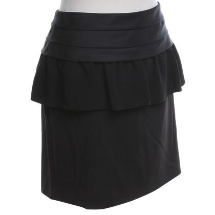 DKNY Zwarte rok met peplum gegevens