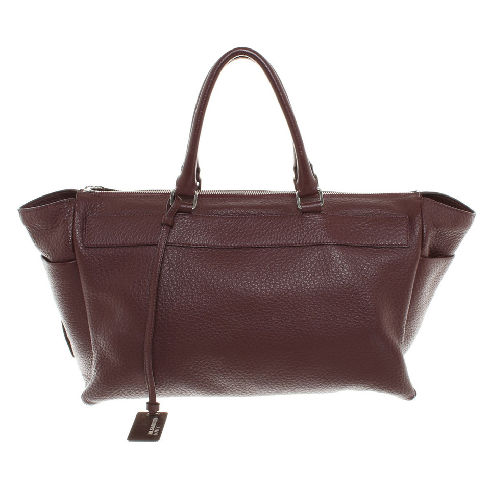 jil sander handtasche in bordeaux second hand jil sander