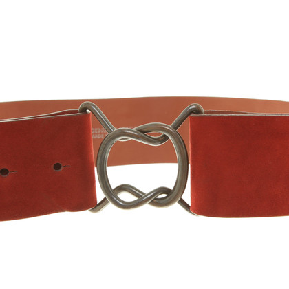 Akris Suede waist belt