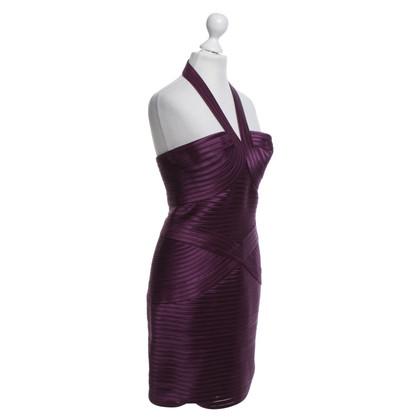 BCBG Max Azria Bandage-Kleid in Aubergine