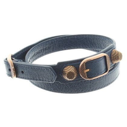Balenciaga Leather bracelet in blue