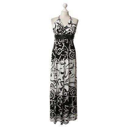 Sky Patterned dress in black/white