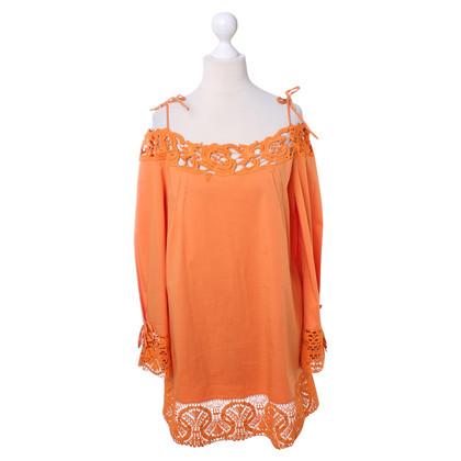 Philosophy di Alberta Ferretti Orangefrabenes top with lace