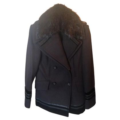 Gucci short coat wool and fur