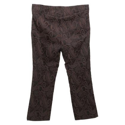 René Lezard Pantalon avec motif paisley