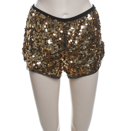 Anna Sui Lovertjes shorts in goud