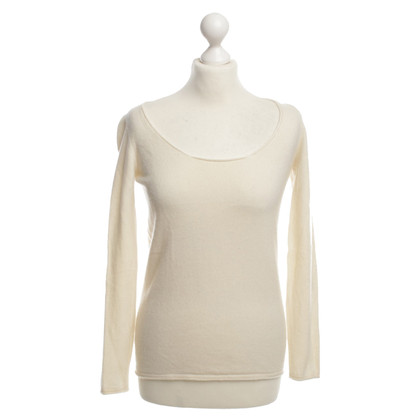 Bruno Manetti Top di cashmere in crema