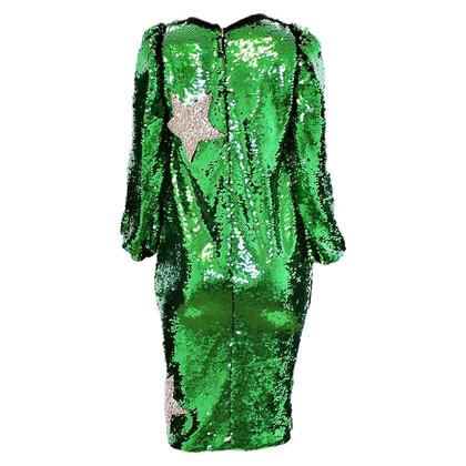 Dolce & Gabbana Groene pailletten jurk