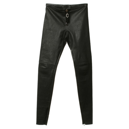 Philipp Plein Leather pants with zipper