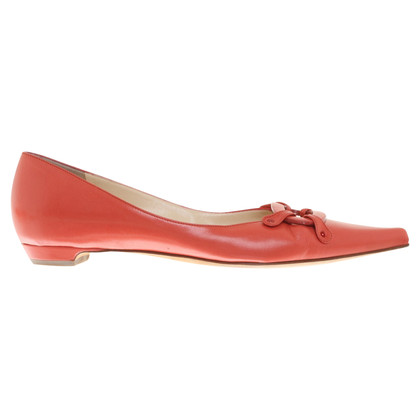 Jimmy Choo Ballerine in Coral Red