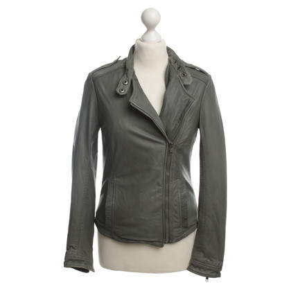 Muubaa Leather jacket in khaki