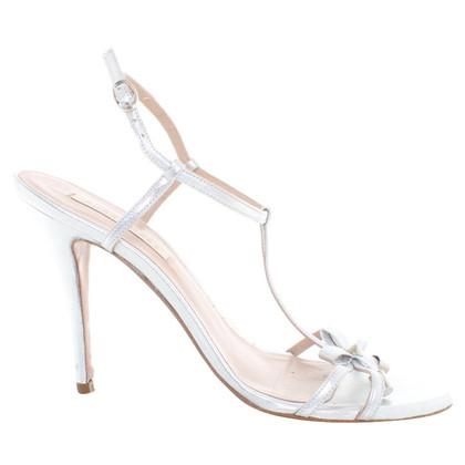 Pura Lopez sandali color argento