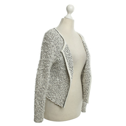 Marc Cain Knit Blazer in Black / White